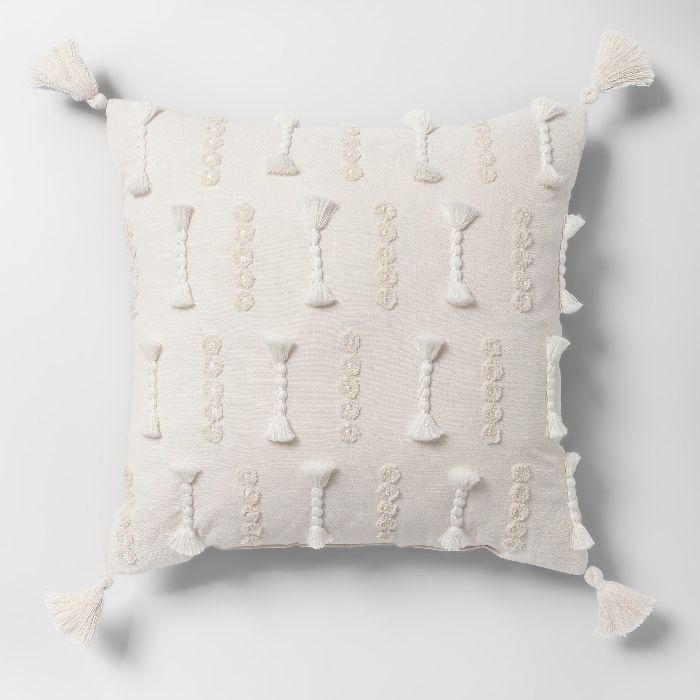 Opalhouse Yarn Applique Square Throw Pillow