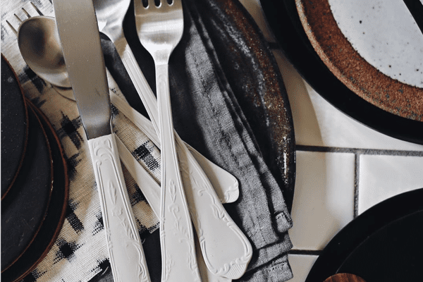 how to clean silver - clean silverware on styled table