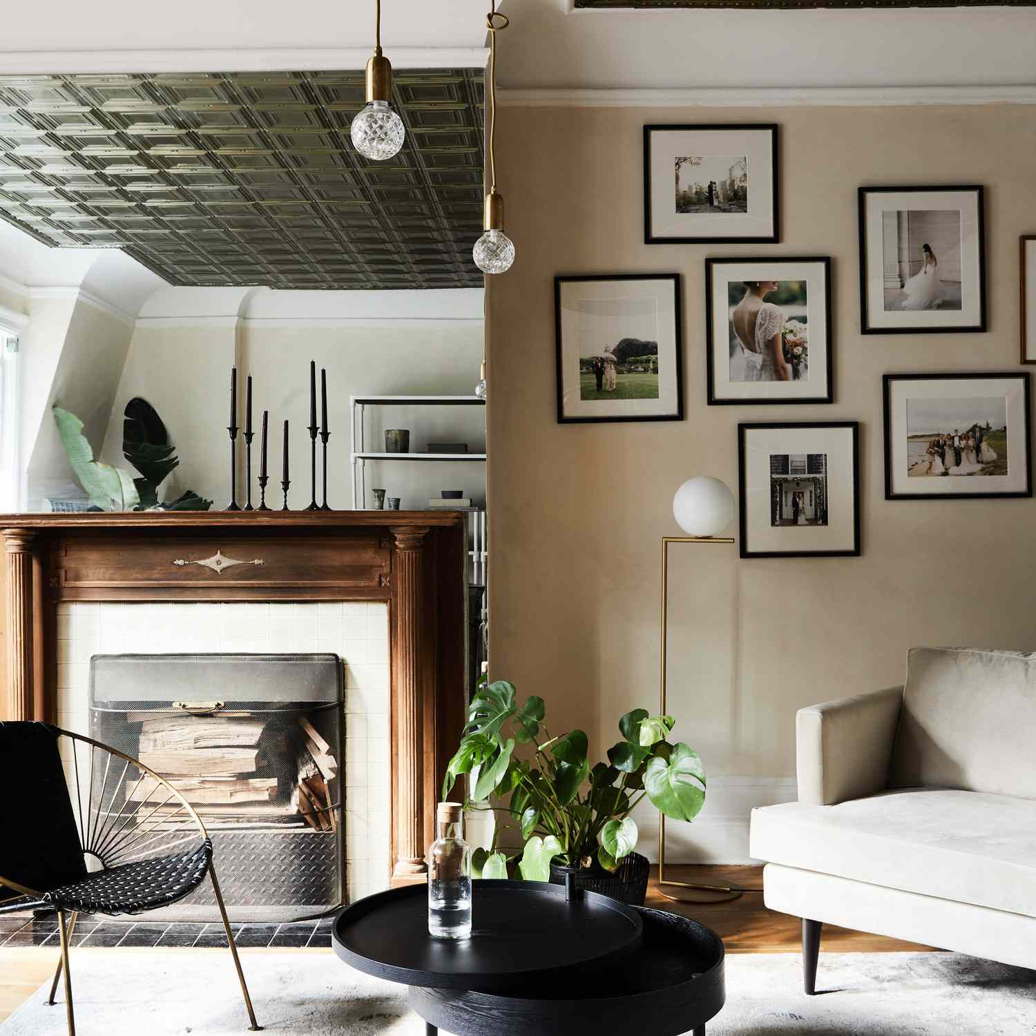 best living room ideas - manhattan apartment with textured ceiling