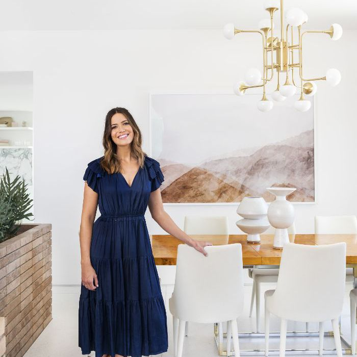 Mandy Moore in her home
