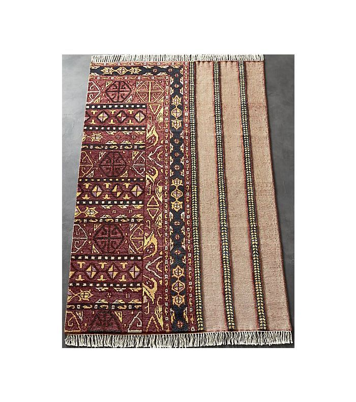 CB2 Gigi Faded Light Red Rug