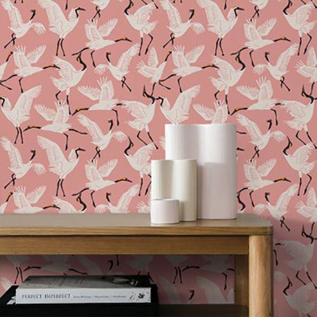 family of cranes wallpaper