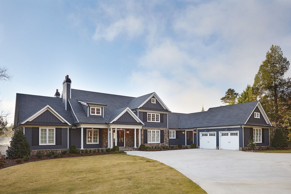 House with navy exterior