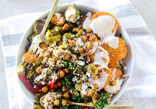 tazón de grano vegetariano