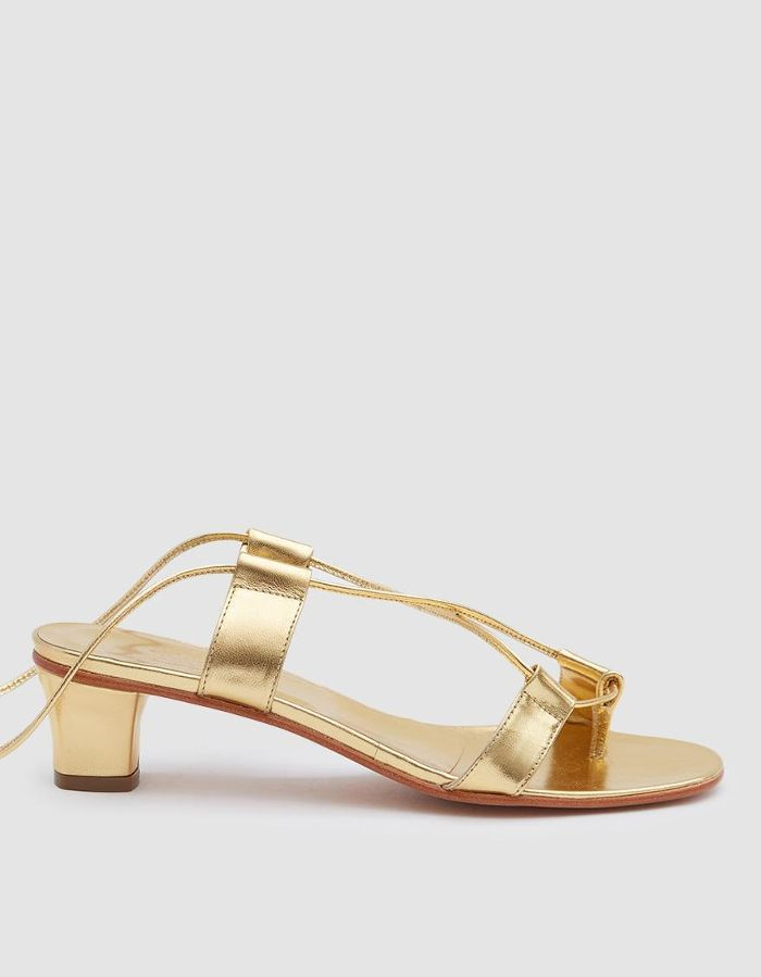 Pavone Wrap Sandal in Gold