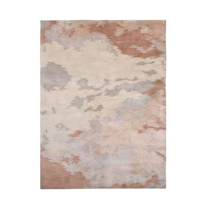 Abstract Blush Shine Rug