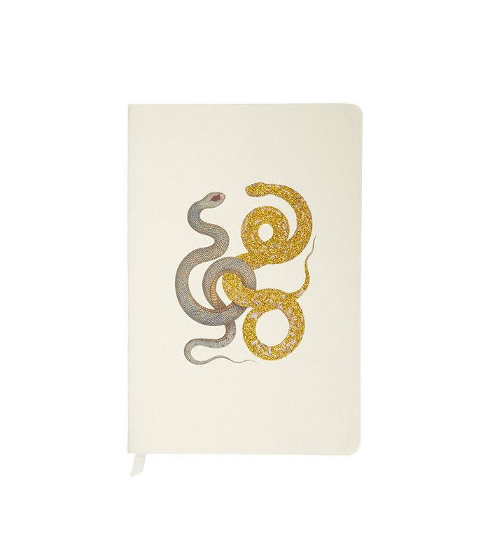 D.L. & Co. Snake With Glitter Creme Journal