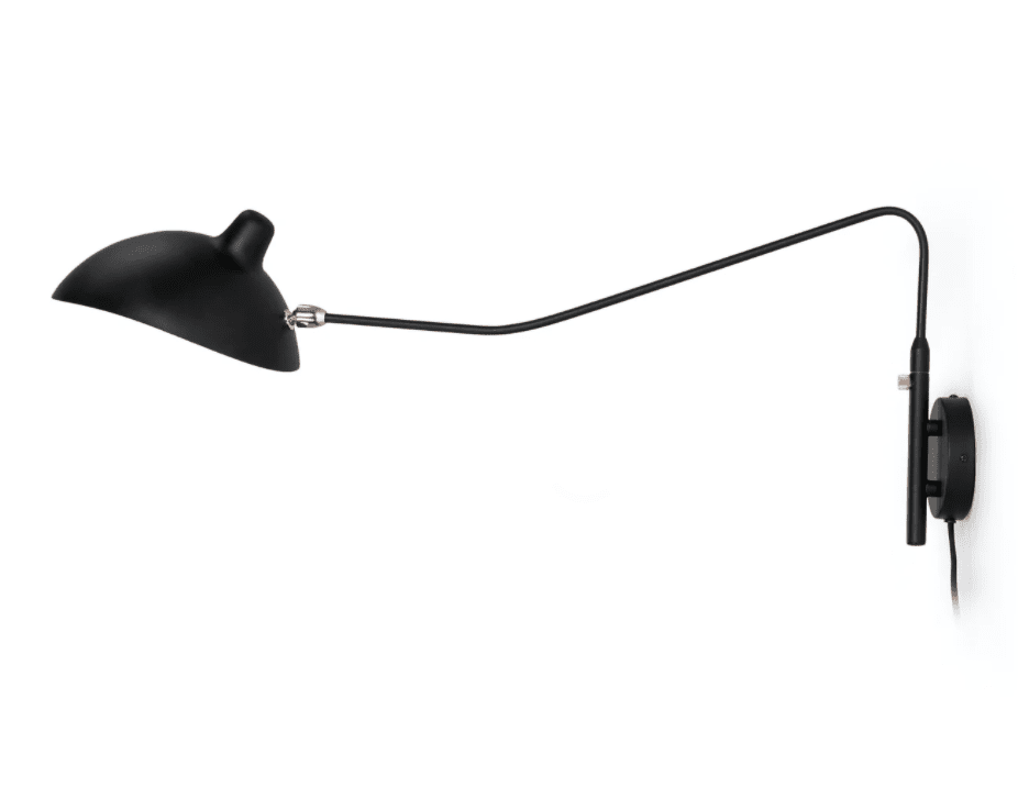 A swing-arm sconce, currently for sale at Article
