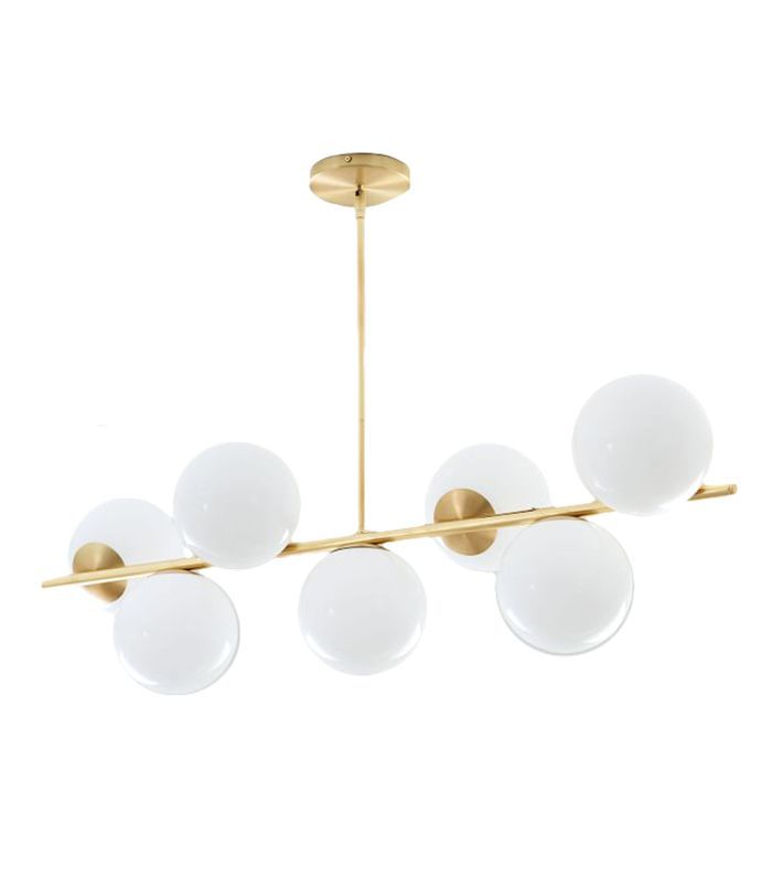 Sphere + Stem 7-Light Chandelier