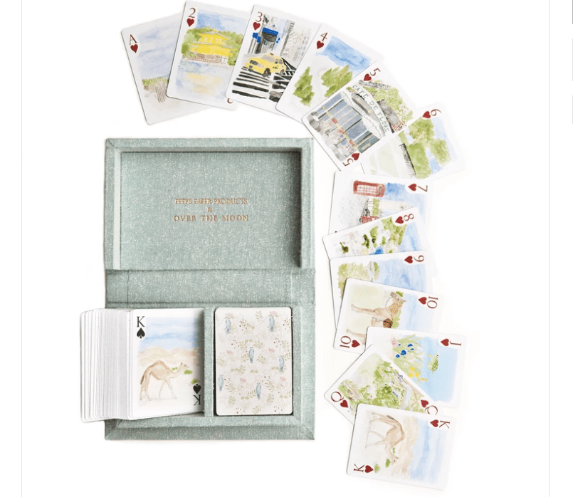Around the World playing cards