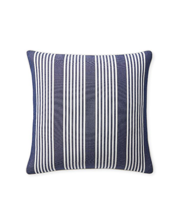 Serena & Lily Perennials Cabana Stripe Pillow Cover