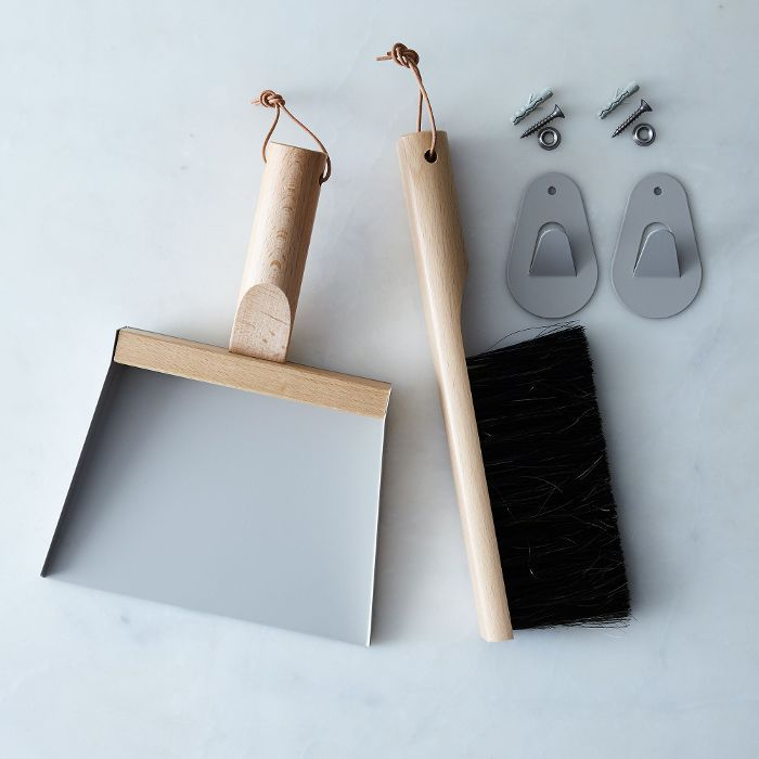 Food52 Vintage-Inspired French Hanging Dustpan & Brush Set