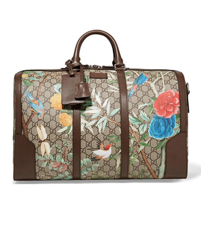 Gucci Leather-Trimmed Printed Coated-Canvas Weekend Bag
