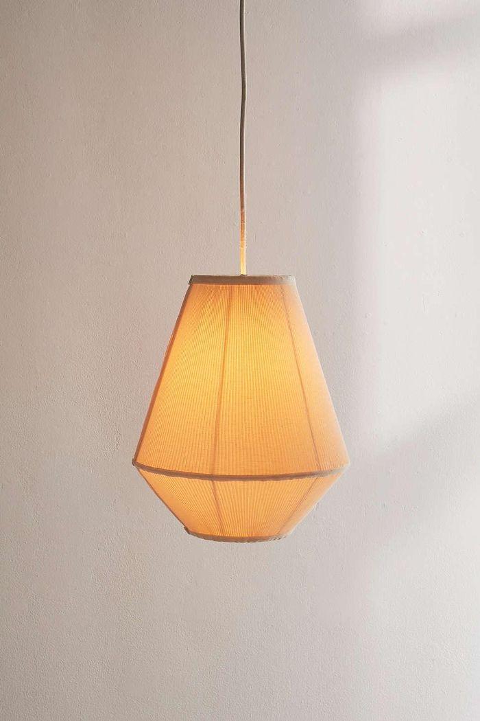 Pleated Tapered Pendant Light