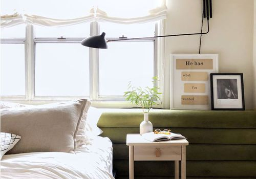 green bedroom ikea hack