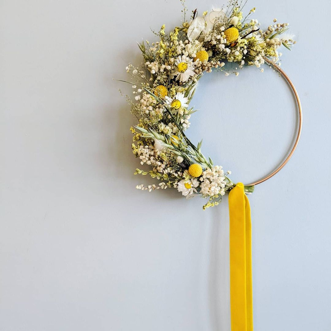 Birch and Bloom spring wreath.