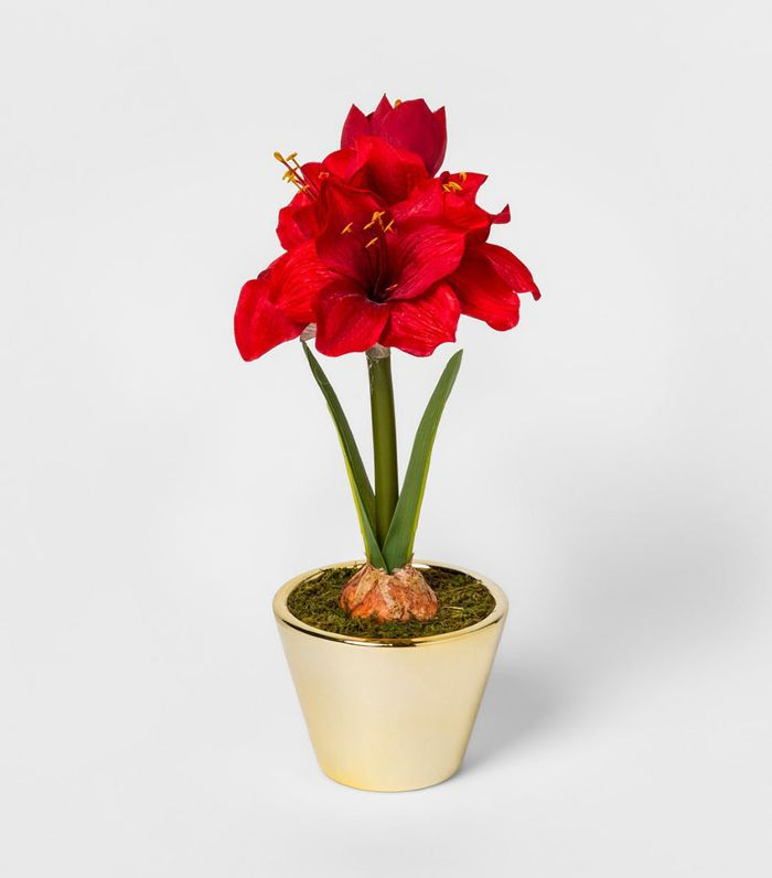 Threshold Decorative Faux Amaryllis Lily Plant