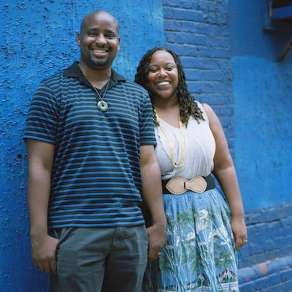 A photo of Jeanine Hays and Bryan Mason of AphroChic.