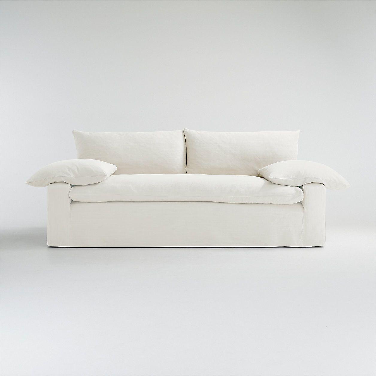 Crate&Barrel Ever Slipcovered Sofa