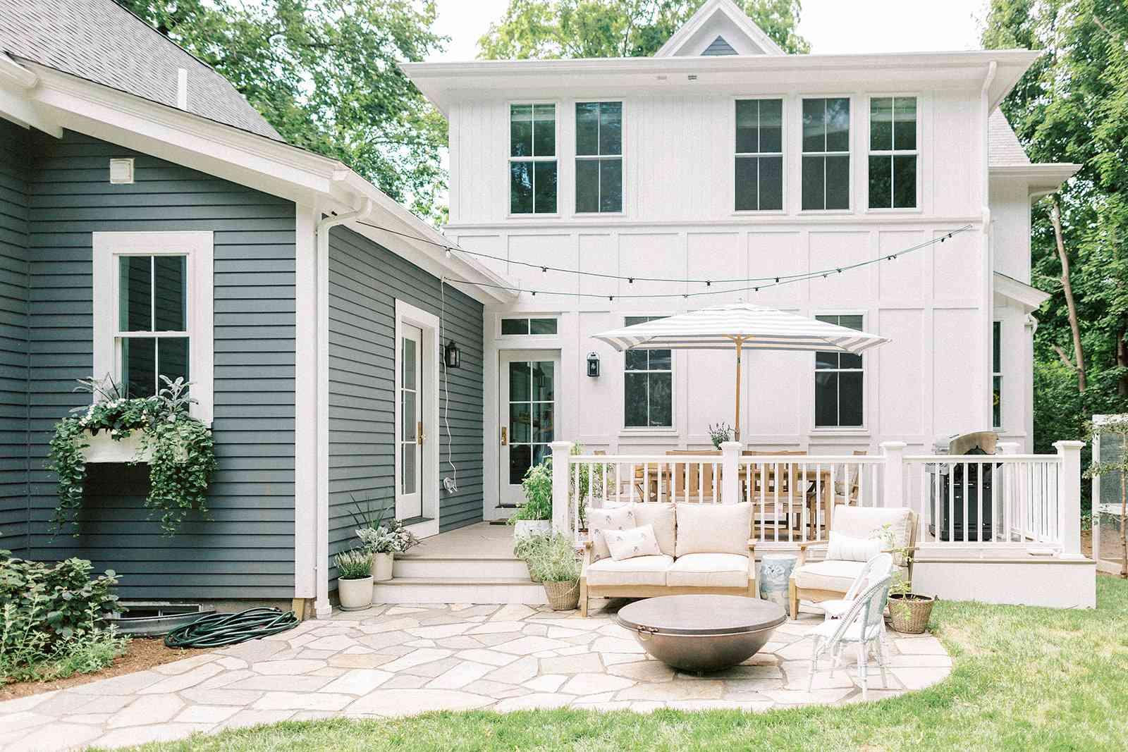 outdoor patio extension of deck