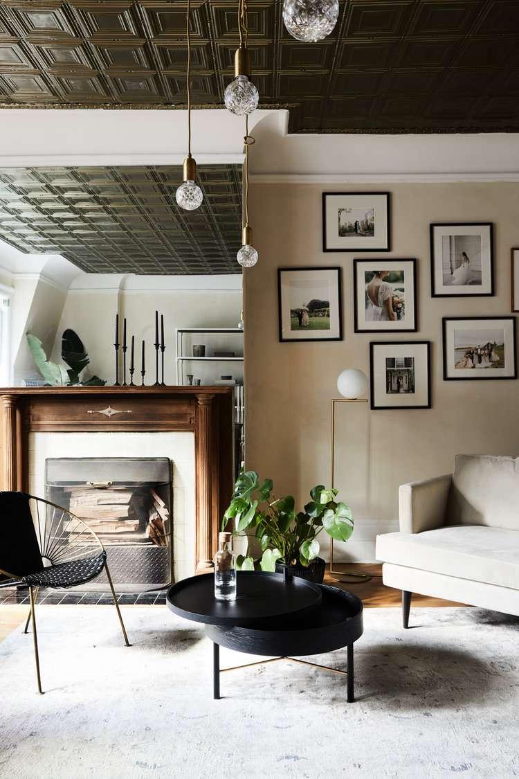 warm neutral living room