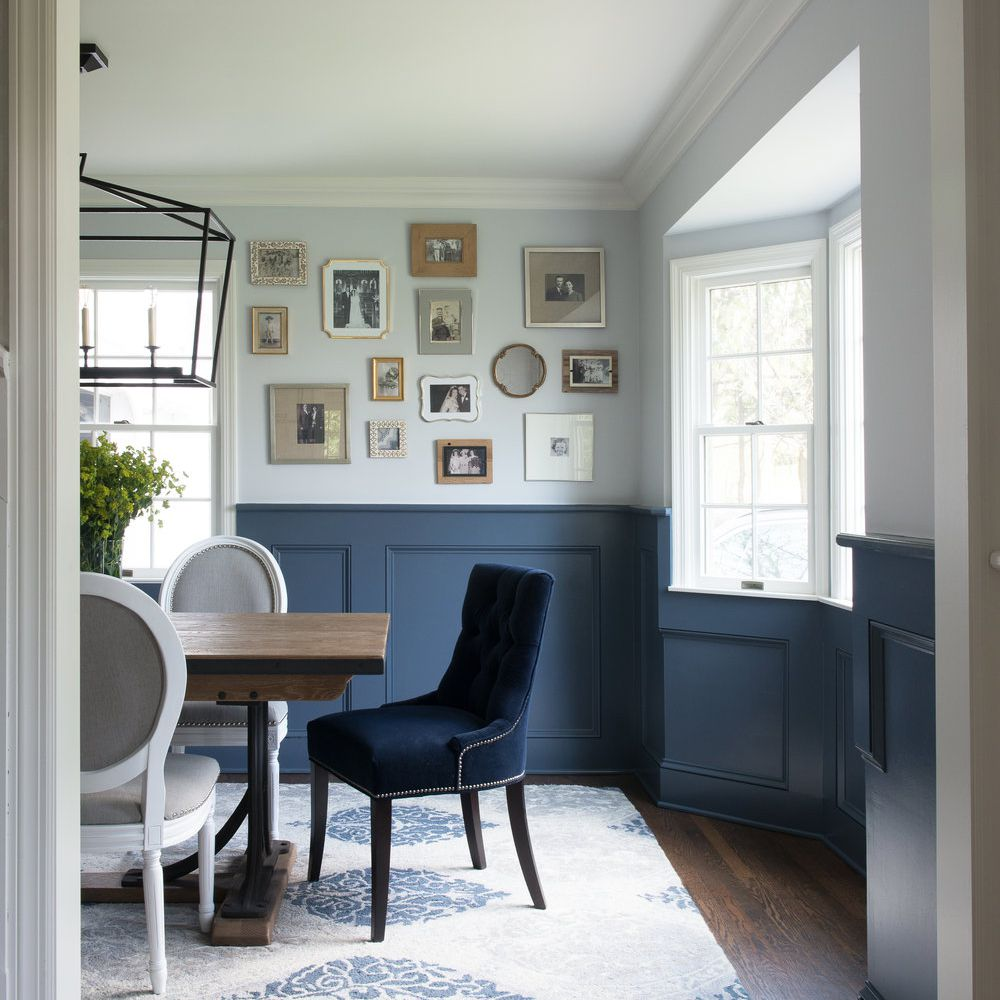 Blue dining room chair
