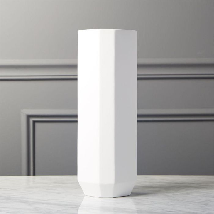Intermix White Tall Vase