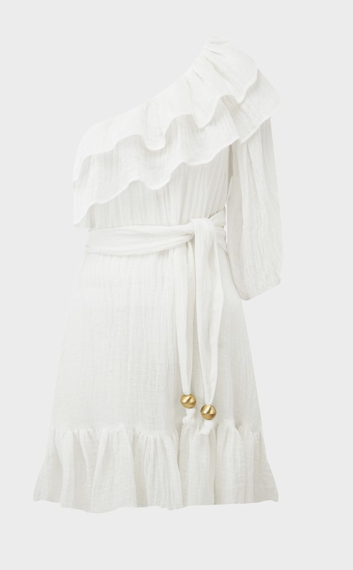 Arden white gauze mini dress Lisa Marie Fernandez