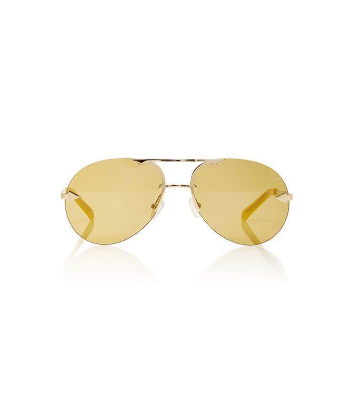 Love Hangover Aviator-Style Gold-Tone Sunglasses