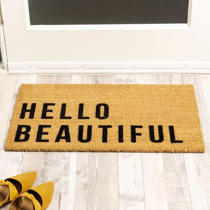 Hello Beautiful doormat.