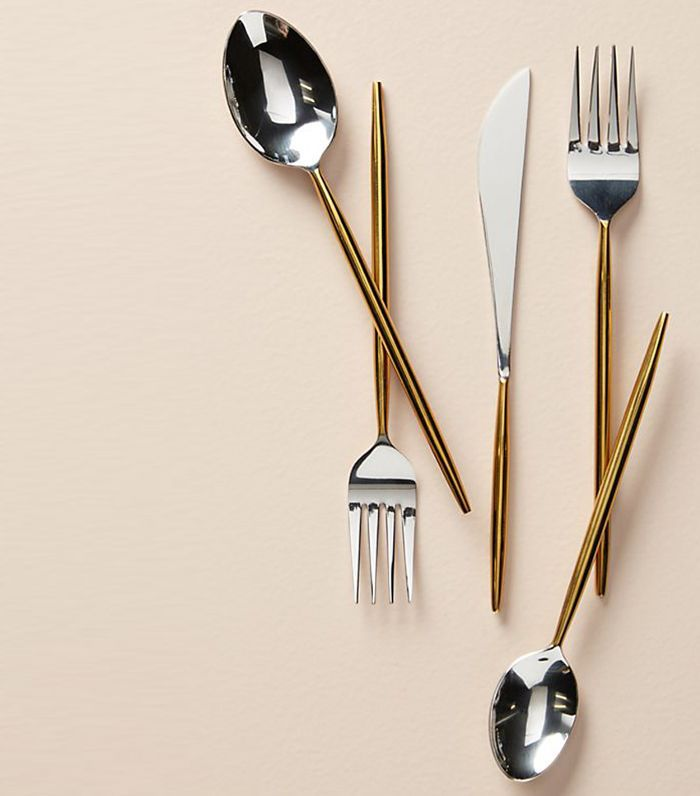 Gold-Dipped Flatware