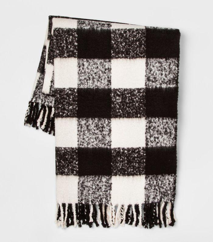 Threshold Faux Mohair Buffalo Check Throw Blanket