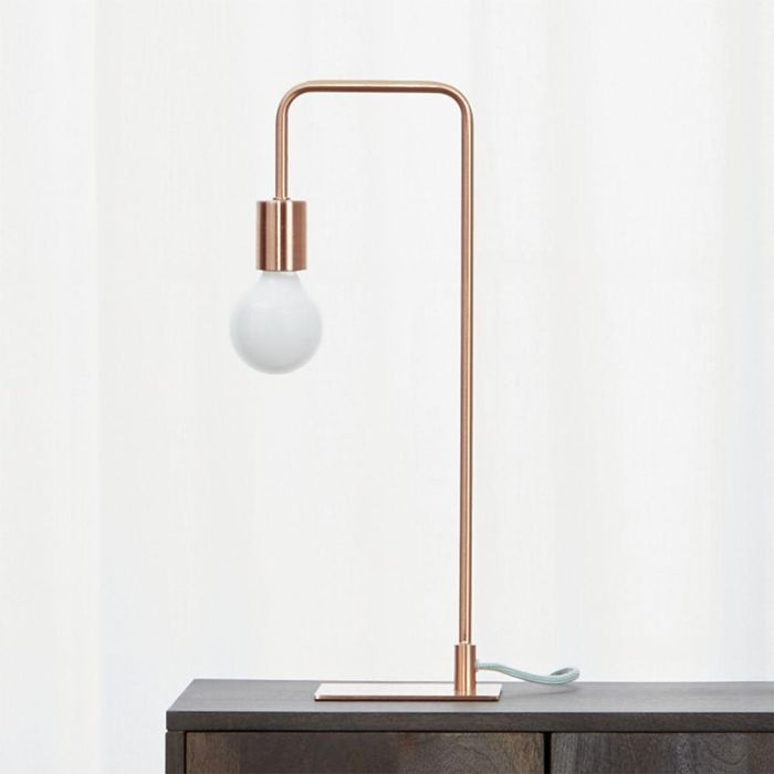 arc copper table lamp