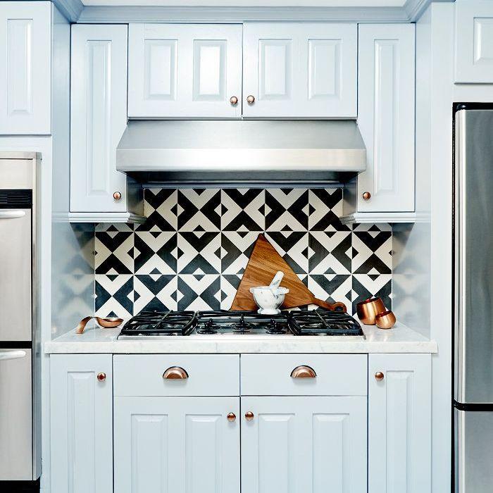 Nina Dobrev L.A. home tour   blue cabinetry
